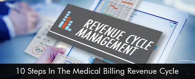What are the 10-steps in the medical billing revenue cycle RCM Software