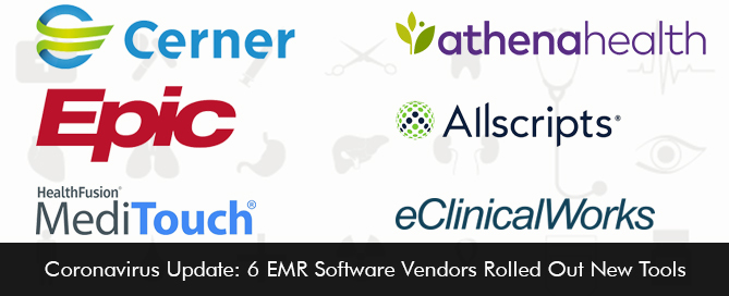 Coronavirus Update: 6 EMR Software Vendors Rolled Out New Tools