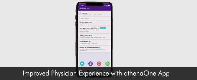 Improved Physician Experience with athenaOne App